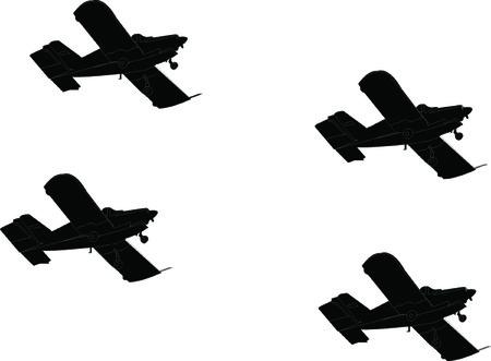 항공기 형성 실루엣