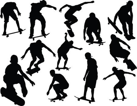 skateboarding collection Vectores