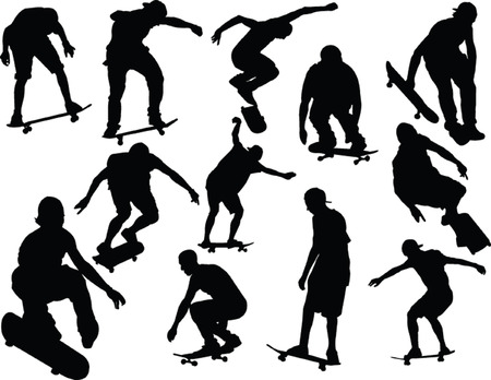 skateboarding collection Illustration