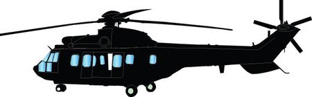 헬리콥터 일러스트