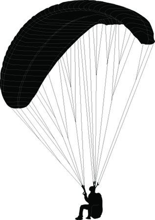 paragliding illustration