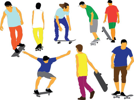 스케이트 보드 컬렉션 일러스트
