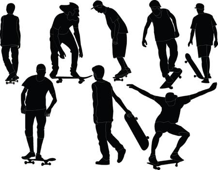 skateboards collection  Vectores