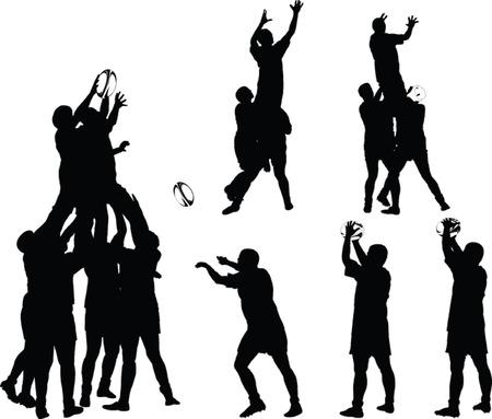 equipe sport: joueurs de rugby collection - vector