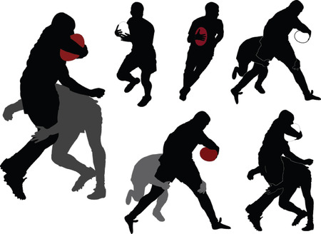 try: rugby players collection - vector