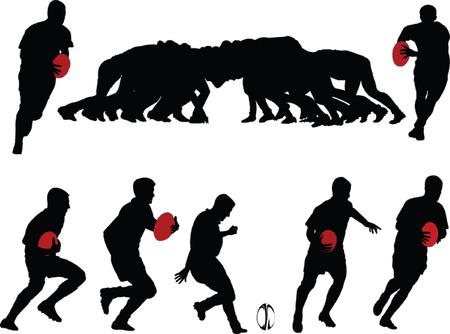 rugbyspelers collectie - vector