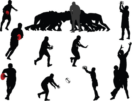 rugby players collection - vector Stock Vector - 29859801