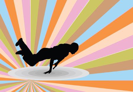 break dance: break dance with background
