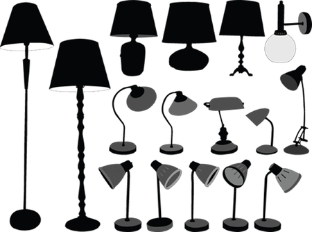 lampshade: lamps collection Illustration
