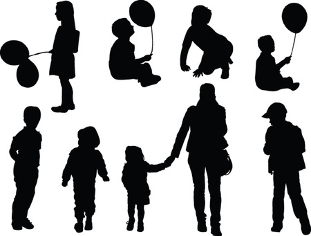 recogida de los niños - vector