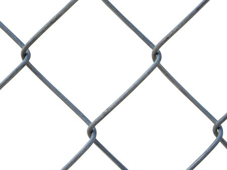 An isolated part of the grid on a white background Stock Photo - 4224967