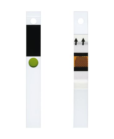 selfcontrol: Used test strip after analysis of glucose in the blood