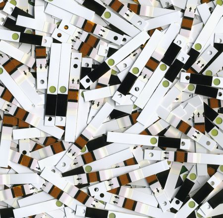 selfcontrol: Used test strips after the analysis of blood glucose