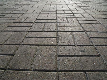 empedrado: La superficie de la carretera de bloques de hormig�n