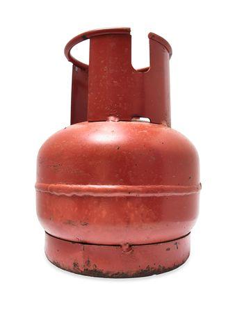 Rusty gas cylinder photo
