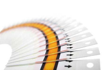 diabetes: Fan de las tiras reactivas en un fondo blanco