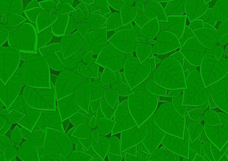 Big dense foliage carpet background texture Illustration