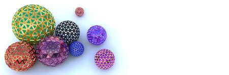 Segmented colorful spheres on white, top view Reklamní fotografie - 119947752