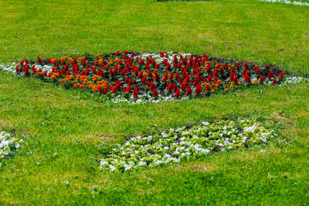 flower beds in urban public places, Park infrastructure
