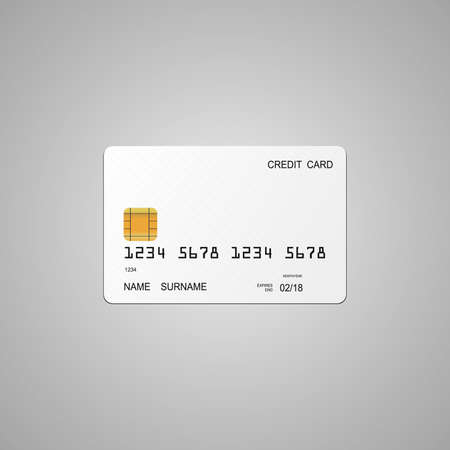 White credit card template.