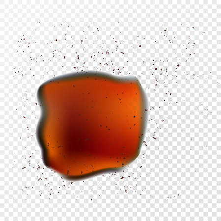 fiambres: objeto vectorial. Un pedazo de óxido con efecto de transparencia
