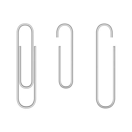 steel sheet: Realistic paper clip. Vector eps10