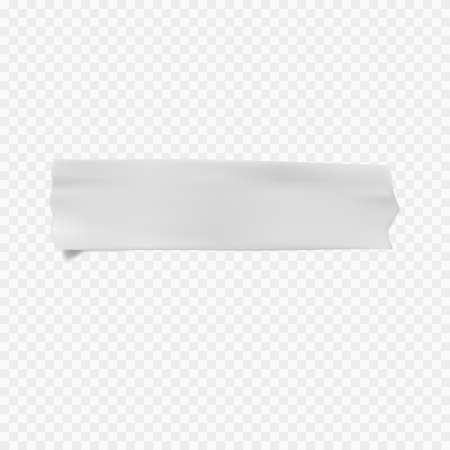 Vector adhesive tape stucky on transparent background