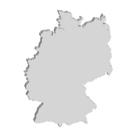 3D vector map of Germany.