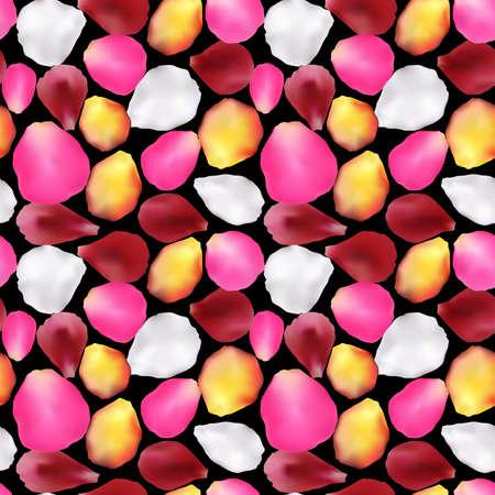 Naadloos patroon gemaakt van rozenblaadjes. Verloop mesh vector. Eps 10. Sakura of roos tedere bloemblaadjes achtergrond. Fijne Valentijnsdag! Valentijnsdag achtergrond