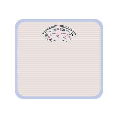 Vector Weight Scale. Illustration on white background.
