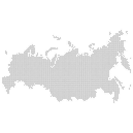 Dotted abstract Russia map. Vector dot map