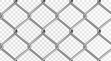 La structure d'une clôture en maille réaliste. Clôture vectorielle continue, isolé sur un fond transparent. Vecteur eps 10. Vecteurs