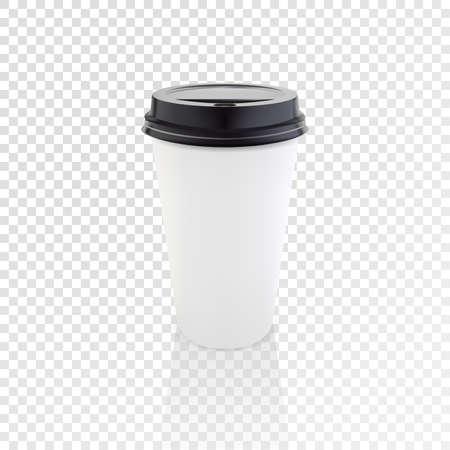 현실적인 종이 커피 컵 벡터 mockup. 일러스트