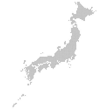 Full dotted map of Japan.