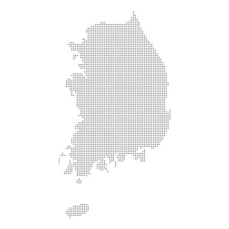 Dotted map of South Korea. Vector eps10.