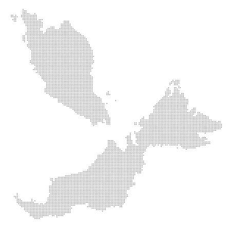 Dotted map of Malaysia. Imagens