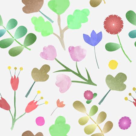Watercolor Flower frame Background Vector Illustration