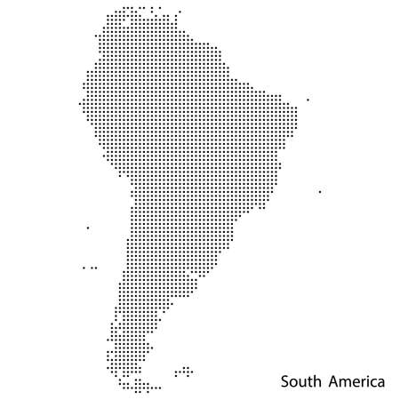 South America dotted map. Vector eps10.