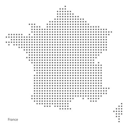 Dot map of France.
