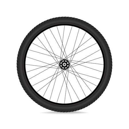 Jantes de vélo de montagne. Illustration vectorielle réaliste 3D Eps10 Vecteurs