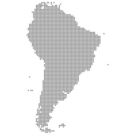 Dot map of South America. Vector eps10.
