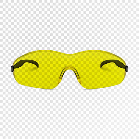 Simple cycling glasses realistic. Building protective photorealistic glasses. Vector illustration.