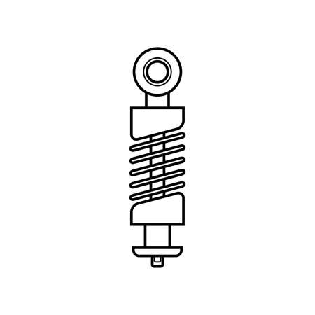 Auto shock absorber black icon. Premium quality graphic design icon. Simple icon for websites, web design, mobile app, store, infographics.