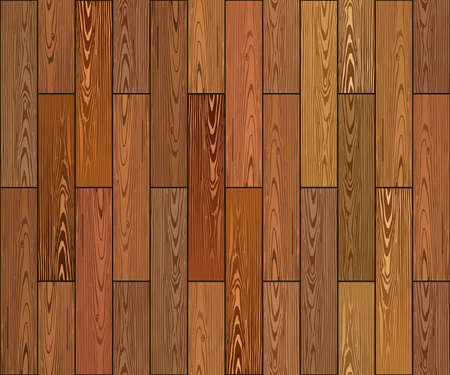Realistic brown wooden planks texture. Vector wood background.