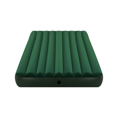 Realistic inflatable rubber green mattress. Vector eps10 Vetores