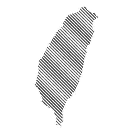 Abstract map of Taiwan. Diagonal lines. Vector eps10 Illusztráció
