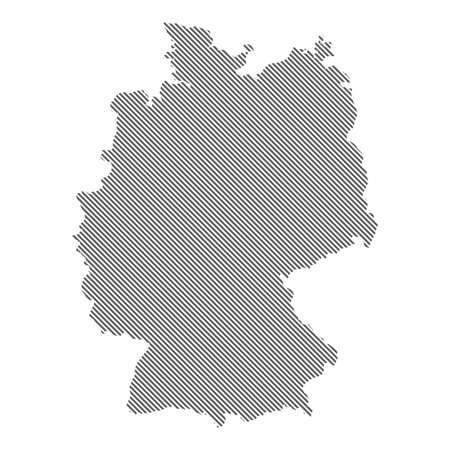 Abstract map of Germany. Diagonal lines. Vector eps10.