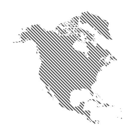 Abstract map of Line dotted America North. Diagonal lines. Vector eps10