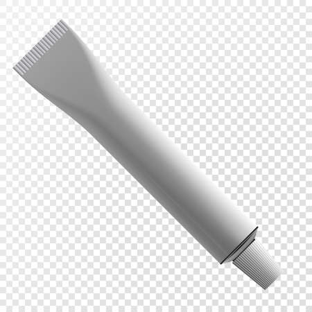 Realistic tube of toothpaste isolated on a transparent background. Vector eps10. Vector Illustration