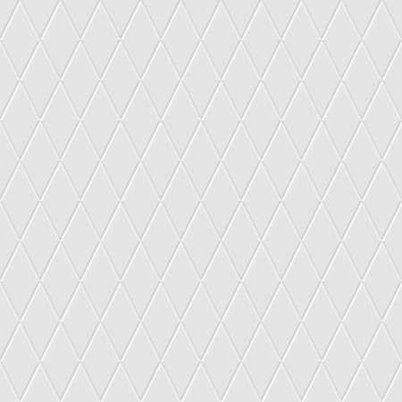 White seamless rhomb tiles vector texture